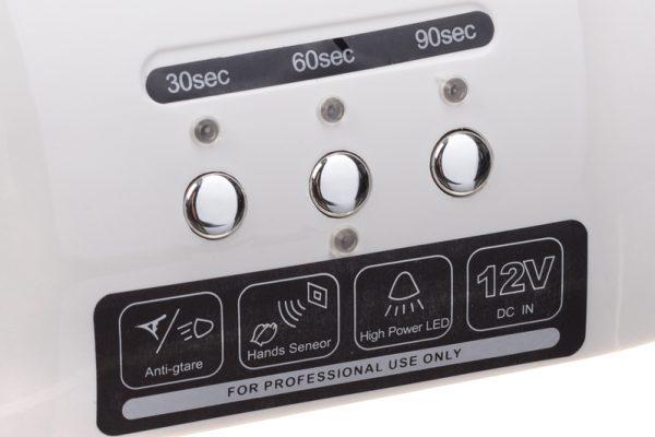 Lampa do paznokci CFL06 biala przyciski
