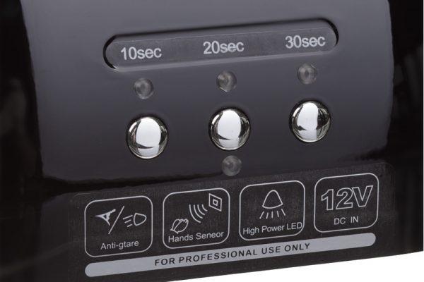 Lampa do paznokci CFL06 czarna przyciski
