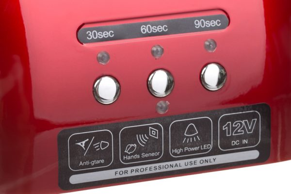 Lampa do paznokci CFL06 czerwona przyciski