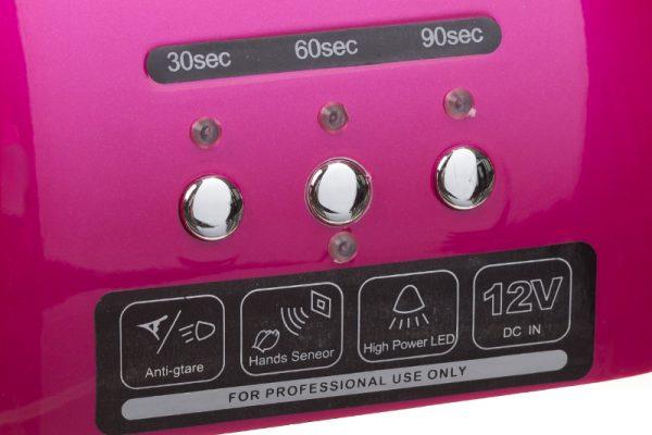 Lampa do paznokci CFL06 rozowa przyciski