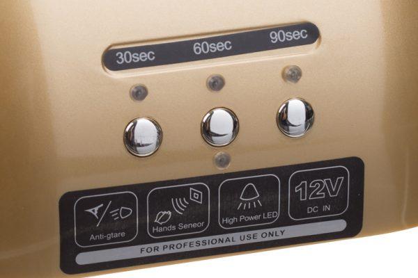 Lampa do paznokci CFL06 zlota przyciski