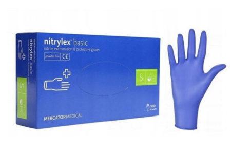 rekawice nitrylowe bezpudrowe rozmiar S