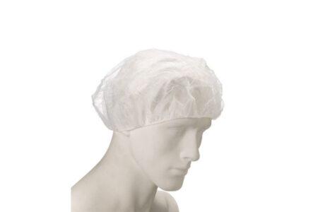 czepek beret bialy ochronny kosmetyczny